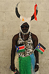A Sudanese man in southern Tel Aviv during celebrations of the independence of South Sudan, which was declared a day earlier.