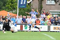 VOETBAL: DE KNIPE: Read Swart-complex, 21-07-2012, Oefenwedstrijd SC Heerenveen - K. Beerschot AC, keeper Stijn Stijnen (#21), inzet Oussama Tannane (#30) gaat voorlangs, ©foto Martin de Jong