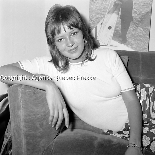 L'actrice Louise Turcot, vedette du film e rotique<br /> ''Deux femmes en or ''(Two Women in Gold), realise par Claude Fournier sorti en 1970.<br /> <br /> Photo : Agence Quebec Presse - Roland Lachance