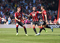 Harry Wilson of AFC Bournemouth right celebrates his goal with Simon Francis of AFC Bournemouth and Chris Mepham of AFC Bournemouth during AFC Bournemouth vs Manchester City, Premier League Football at the Vitality Stadium on 25th August 2019