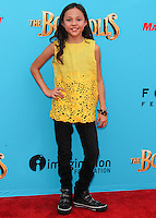 UNIVERSAL CITY, CA, USA - SEPTEMBER 21: Breanna Yde arrives at the Los Angeles Premiere Of Focus Features' 'The Boxtrolls' held at Universal CityWalk on September 21, 2014 in Universal City, California, United States. (Photo by Celebrity Monitor)