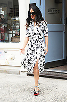 www.acepixs.com<br /> June 8, 2017 New York City<br /> <br /> Salma Hayek was seen in New York City on June 8, 2017.<br /> <br /> Credit: Kristin Callahan/ACE Pictures<br /> <br /> Tel: 646 769 0430<br /> Email: info@acepixs.com