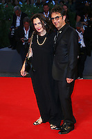 Atom Egoyan, right, and Arsinee Khanjian attend the red carpet for the premiere of the movie 'Remember' during the 72nd Venice Film Festival at the Palazzo Del Cinema in Venice, Italy, September 10, 2015.<br /> UPDATE IMAGES PRESS/Stephen Richie