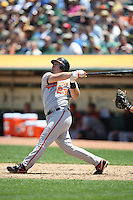 OAKLAND, CA - JUNE 7:  Ty Wigginton of the Baltimore Orioles bats during the game against the Oakland Athletics at the Oakland Coliseum in Oakland, California on Sunday, June 7, 2009.  The Athletics defeated the Orioles 3-0.  Photo by Brad Mangin
