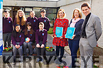 Col&aacute;iste Gleann L&iacute; were chosen as the Kerry School to pilot the new Alcohol Awareness Programme and they launched it on Tuesday last.   <br /> Front l-r, Maryanne Lowney, Myrna Egan and Liam McGill (Deputy Principal).<br /> Seated l-r, Samia Lai, Aleksandra Skotak, Padraig Sullivan.<br /> Standing l-r, Kieran Duggan, Sophie Foran, Elise McIntyre and Conor Commane.