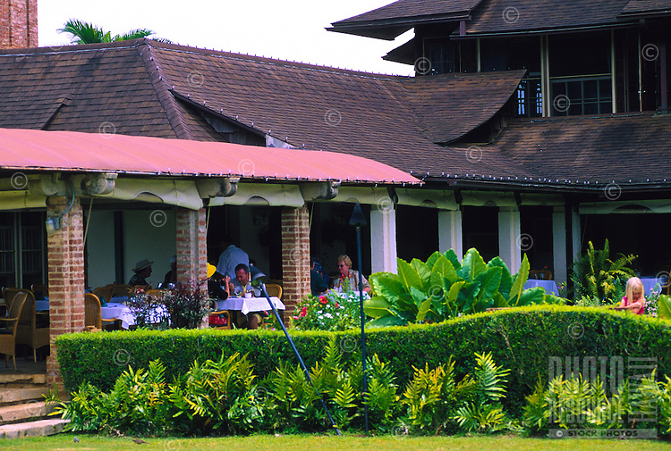 Gaylord's Restaurant at the Kilohana Planatation Estate and shopping area in Lihue, central Kauai