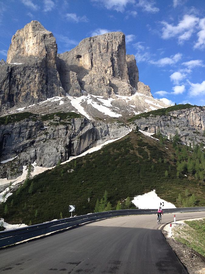 Passo Gardena, in the heart of the Dolomites, Corvara in Badia, Südtirol, Italy.