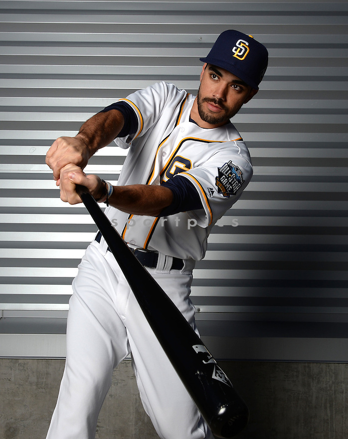 San Diego Padres Carlos Asuaje (63) during photo day on February 26, 2016 in Peoria, AZ.