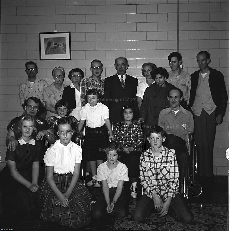 Stamp Club at the Children's Hospital in the Black Hills of South Dakota. Images were taken Dec. 6, 1955 with a Megalume Flash. Photographs by Don Mueller.