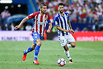Atletico de Madrid's Koke Resurrecccion and Deportivo Alaves's Edgar Mendez during the match of La Liga Santander between Atletico de Madrid and Deportivo Alaves at Vicente Calderon Stadium. August 21, 2016. (ALTERPHOTOS/Rodrigo Jimenez)