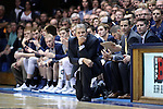 04 November 2016: Augustana head coach Tom Billeter. The Duke University Blue Devils hosted the Augustana University Vikings at Cameron Indoor Stadium in Durham, North Carolina in a 2016-17 NCAA Division I Men's Basketball exhibition game.