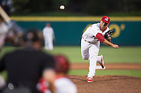 Richard Castillo (33) of the Springfield Cardinals delivers a pitch during a game against the Northwest Arkansas Naturals at Hammons Field on August 20, 2013 in Springfield, Missouri. (David Welker/Four Seam Images)