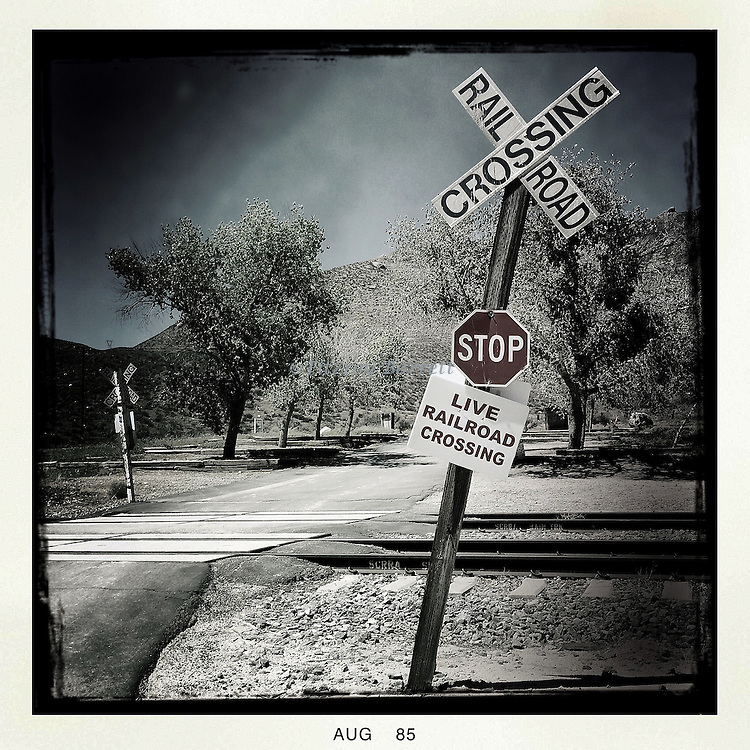 Railroad Crossing another art work taken during one of my many photo walk about's Acton, CA. August 2, 2015.