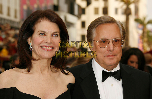 SHERRY LANSING & GUEST.The 79th Annual Academy Awards - Arrivals held at the Kodak Theatre, Hollywood, California, USA. .February 25th, 2007.oscars headshot portrait bow tie glasses.CAP/ADM/RE.©Russ Elliot/AdMedia/Capital Pictures