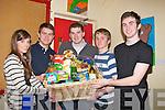 HAMPER: Winners of the first hamper at the St John's parish Bazaar in the KDYS Denny Street, Tralee on Saturday night, L-r: Fiona Reilly, Micheál Maher, Liam Maher,Conor NolanEógan Sullivan (Tralee)................
