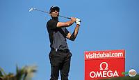 Alvaro Quiros (ESP) during the Final Round of the 2016 Omega Dubai Desert Classic, played on the Emirates Golf Club, Dubai, United Arab Emirates.  07/02/2016. Picture: Golffile | David Lloyd<br /> <br /> All photos usage must carry mandatory copyright credit (&copy; Golffile | David Lloyd)