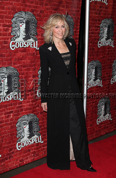 Judith Light.arriving for the Opening Night Performance of the Broadway Revival of 'Godspell' at Circle in the Square Theatre in New York City.