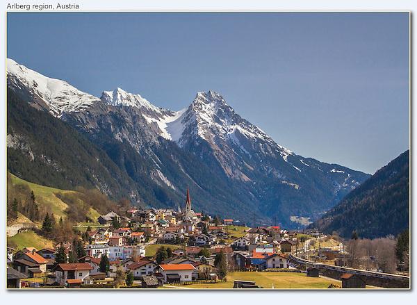 Town of Pettneu am Arlberg, near St Anton, Austria.