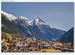 Austria, St Anton.  <br /> Springtime and the town of Pettneu am Arlberg, near St Anton, Austria.