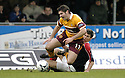 10/02/2007       Copyright Pic: James Stewart.File Name : sct_jspa08_falkirk_v_motherwell.JIM PATERSON IS CHALLENGED BY FALKIRK'S CARL FINNIGAN......James Stewart Photo Agency 19 Carronlea Drive, Falkirk. FK2 8DN      Vat Reg No. 607 6932 25.Office     : +44 (0)1324 570906     .Mobile   : +44 (0)7721 416997.Fax         : +44 (0)1324 570906.E-mail  :  jim@jspa.co.uk.If you require further information then contact Jim Stewart on any of the numbers above.........