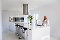 "COPY BY TOM BEDFORD<br /> Pictured: Claire Dix in her kitchen<br /> A home-loving mum is looking forward to a bright 2017 - everything she owns is white.  <br /> Claire Dix, 51, lives in white house where all the inside walls, floors and ceilings are white.<br /> Her furniture is white, her sheets and towels are white - even her Persian cat Mr Darcy is white.<br /> She drives a white Porsche sports car and the other family car is - you've guessed, it white.<br /> And to keep her home spotless she even has a white, limited-edition Dyson cleaner.<br /> Claire said: ""It's not an obsession, just a matter of style - I happen to like white."