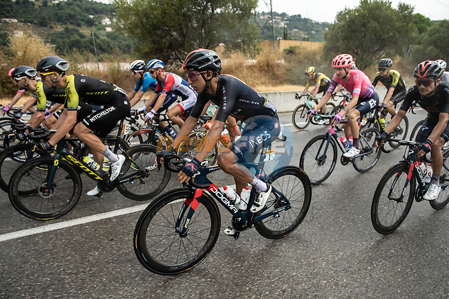 The peloton including Egan Bernal (COL) Team Ineos Grenadiers during Stage 1 of Tour de France 2020, running 156km from Nice Moyen Pays to Nice, France. 29th August 2020.<br /> Picture: ASO/Alex Broadway   Cyclefile<br /> All photos usage must carry mandatory copyright credit (© Cyclefile   ASO/Alex Broadway)