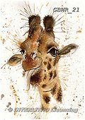 Simon, REALISTIC ANIMALS, REALISTISCHE TIERE, ANIMALES REALISTICOS, paintings+++++KatherineW_SplatterGiraffe,GBWR21,#a#, EVERYDAY