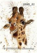 Simon, REALISTIC ANIMALS, REALISTISCHE TIERE, ANIMALES REALISTICOS, paintings+++++KatherineW_SplatterGiraffe,GBWR21,#a#, EVERYDAY