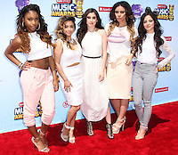 LOS ANGELES, CA, USA - APRIL 26: Normani Kordei, Camila Cabello, Lauren Jauregui, Dinah Jane Hansen, Ally Brooke, Fifth Harmony at the 2014 Radio Disney Music Awards held at Nokia Theatre L.A. Live on April 26, 2014 in Los Angeles, California, United States. (Photo by Xavier Collin/Celebrity Monitor)