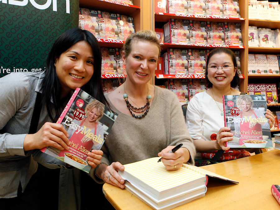 "*** NO FEE PIC ***.01/10/2011.Eason Ireland's leading retailer of books stationery, magazines & lots more hosted a book sigining by best selling cookery writer & TV cook Rachel Allen who signed copies of her new book "" Easy Meals"" for fans (L to R)  Eleen Chan & Kit Mun both from Clonee.at Eason O' Connell St, Dublin..Photo: Gareth Chaney Collins"