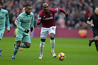 Angelo Ogbonna and Alexandre Lacazetten of Arsenal during West Ham United vs Arsenal, Premier League Football at The London Stadium on 12th January 2019
