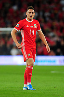 Connor Roberts of Wales during the UEFA Euro 2020 Qualifier match between Wales and Azerbaijan at the Cardiff City Stadium in Cardiff, Wales, UK. Friday 06, September 2019