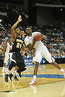NWA Democrat-Gazette/Michael Woods --03/19/2015--w@NWAMICHAELW... The University of Arkansas Razorbacks vs the Wofford Terriers during Thursday nights 56-53 Arkansas win in the 2015 NCAA basketball tournament at Jacksonville Veterans Memorial Arena in Jacksonville, Florida.