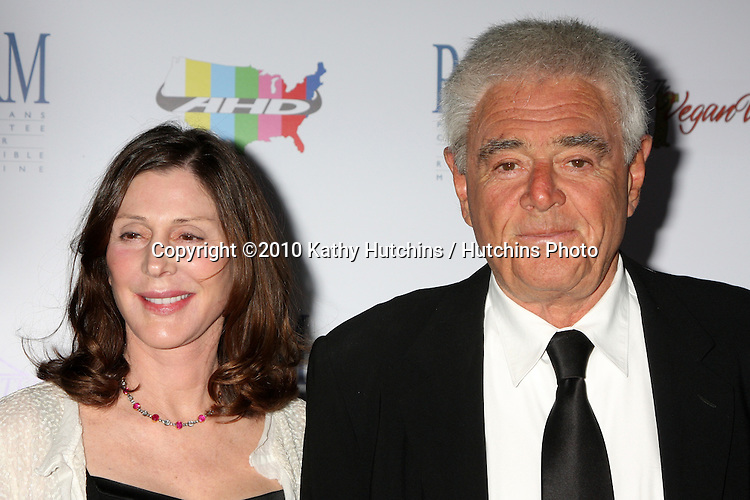 "Richard Donner & Lauren Schuler Donner.arrives at ""The Art of Compasion PCRM 25th Anniversary Gala"".The Lot.Los Angeles, CA.April 10, 2010.©2010 Kathy Hutchins / Hutchins Photo..."