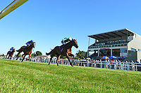 Winner of The British Ebf Venture Security Maiden Stakes   Thimbleweed ridden by Harry Bentley and trained by Ralph Beckett during Whitsbury Manor Stud Bibury Cup Day Racing at Salisbury Racecourse on 27th June 2018