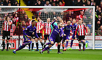 Charlton Athletic's Ricky Holmes celebrates scoring the opening goal <br /> <br /> Photographer Chris Vaughan/CameraSport<br /> <br /> The EFL Sky Bet League One - Sheffield United v Charlton Athletic - Saturday 18th March 2017 - Bramall Lane - Sheffield<br /> <br /> World Copyright &copy; 2017 CameraSport. All rights reserved. 43 Linden Ave. Countesthorpe. Leicester. England. LE8 5PG - Tel: +44 (0) 116 277 4147 - admin@camerasport.com - www.camerasport.com
