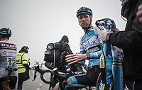 Klaas Vantornout (BEL/Marlux-NapoleonGames) post-race; just a few hours later he would learn that his team wouldn't continue with him for teh next season (while having an option for that in his contract)<br /> <br /> elite men's race<br /> CX Superprestige Noordzeecross <br /> Middelkerke / Belgium 2017