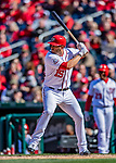 5 April 2018: Washington Nationals first baseman Matt Adams in action against the New York Mets at Nationals Park in Washington, DC. The Mets defeated the Nationals 8-2 in the first game of their 3-game series. Mandatory Credit: Ed Wolfstein Photo *** RAW (NEF) Image File Available ***