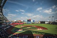 Vista panor&aacute;mica de estadio en un dia parcialmente soleado, durante el  partido de beisbol de la Serie del Caribe con el encuentro entre los Alazanes de Gamma de Cuba contra los Criollos de Caguas de Puerto Rico en estadio de los Charros de Jalisco en Guadalajara, M&eacute;xico, Martes 6 feb 2018. <br /> (Foto: /Luis Gutierrez)
