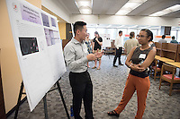 "Justin Choi '17 talks about ""Reversing heparin-induced anticoagulation using a virus-like nanoparticle""<br /> Occidental College's Undergraduate Research Center hosts their annual Summer Research Conference on Aug. 4, 2016. Student researchers presented their work as either oral or poster presentations at the final conference. The program lasts 10 weeks and involves independent research in all departments.<br /> (Photo by Marc Campos, Occidental College Photographer)"