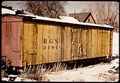 RGS refrigerator car #2101.<br /> RGS  Ridgway, CO