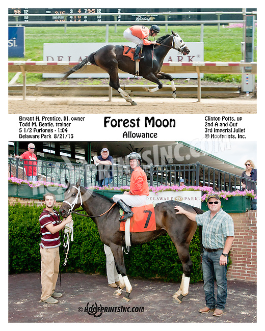 Forest Moon winning at Delaware Park on 8/21/13