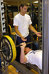 BYU Rugby players attend their daily workout in the intercollegiate weight room, wednesday night at 6:15..Coach: Jared Aikenhead..Photo by Annie Jones/BYU