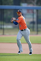 Houston Astros Miguelangel Sierra (3) during practice before a Minor League Spring Training Intrasquad game on March 28, 2018 at FITTEAM Ballpark of the Palm Beaches in West Palm Beach, Florida.  (Mike Janes/Four Seam Images)