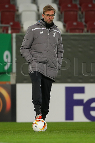17.02.2016. Augsburg, Germany. Liverpool FC training ahead of their Europa League game versus Augsburg, February 18th.  Trainer Juergen Klopp (FC Liverpool)