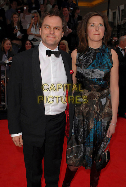 JACK DEE & GUEST.Arrivals at the British Academy Television Awards, (BAFTA's) held at Grosvenor House Hotel, London, UK..May 7th 2006.Ref: CAN.bafta baftas half length tuxedo blue sleeveless dress pattern.www.capitalpictures.com.sales@capitalpictures.com.©Capital Pictures