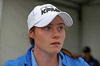 Leona Maguire (Ireland) talks to the media after finishing her final round during the ShopRite LPGA Classic presented by Acer, Seaview Bay Club, Galloway, New Jersey, USA. 6/10/18.<br /> Picture: Golffile   Brian Spurlock<br /> <br /> <br /> All photo usage must carry mandatory copyright credit (&copy; Golffile   Brian Spurlock)