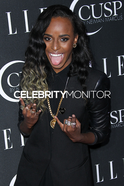 HOLLYWOOD, LOS ANGELES, CA, USA - APRIL 22: Angel Haze at the 5th Annual ELLE Women In Music Concert Celebration presented by CUSP by Neiman Marcus held at Avalon on April 22, 2014 in Hollywood, Los Angeles, California, United States. (Photo by Xavier Collin/Celebrity Monitor)