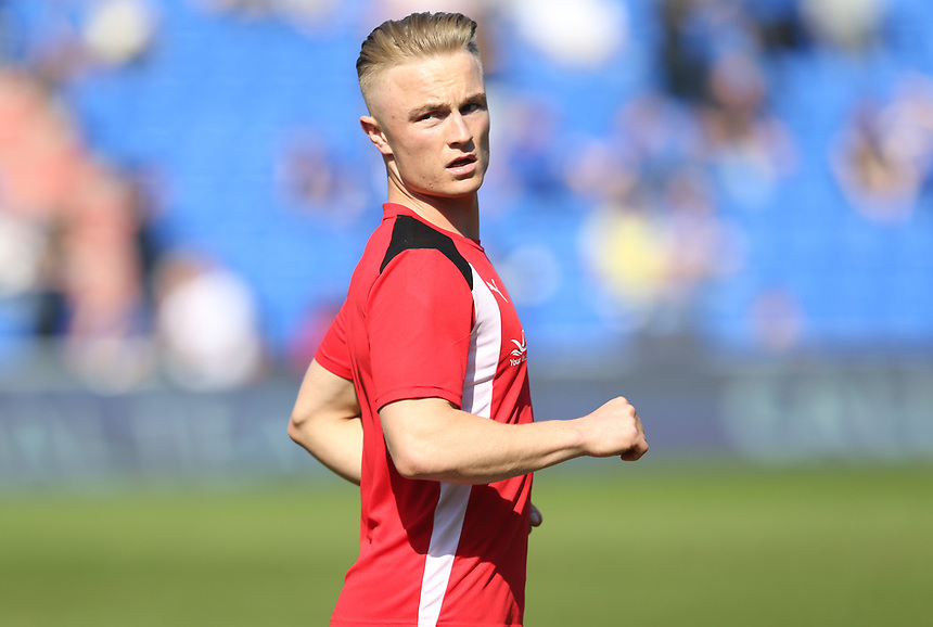 Fleetwood Town's Kyle Dempsey during the pre-match warm-up <br /> <br /> Photographer Stephen White/CameraSport<br /> <br /> The EFL Sky Bet League One - Oldham Athletic v Fleetwood Town - Saturday 8th April 2017 - SportsDirect.com Park - Oldham<br /> <br /> World Copyright &copy; 2017 CameraSport. All rights reserved. 43 Linden Ave. Countesthorpe. Leicester. England. LE8 5PG - Tel: +44 (0) 116 277 4147 - admin@camerasport.com - www.camerasport.com