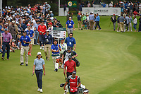 Tommy Fleetwood (ENG) and Tiger Woods (USA) head down 17 to the roar of the crowd during round 4 of the World Golf Championships, Mexico, Club De Golf Chapultepec, Mexico City, Mexico. 2/24/2019.<br /> Picture: Golffile | Ken Murray<br /> <br /> <br /> All photo usage must carry mandatory copyright credit (© Golffile | Ken Murray)